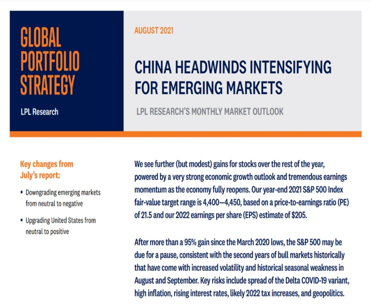 Global Portfolio Strategy | August 17, 2021
