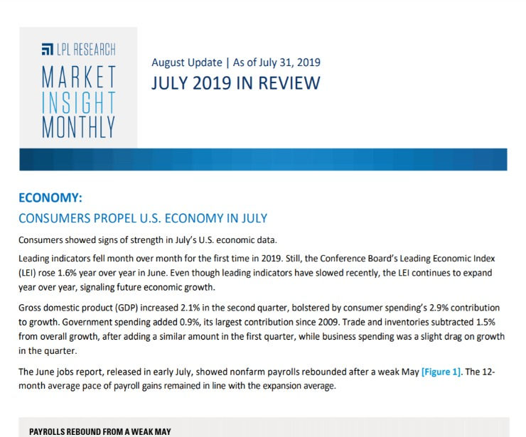 Market Insight Monthly | July 2019